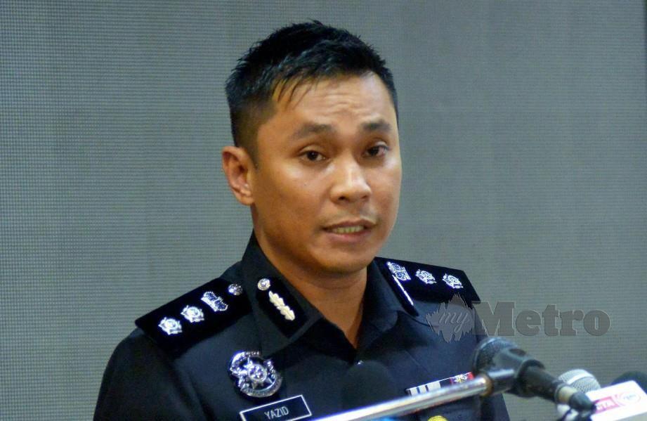 MUHAMMAD Yazid Mpada sidang media Ops Covid-19 Kontinjen Selangor. FOTO Faiz Anuar.