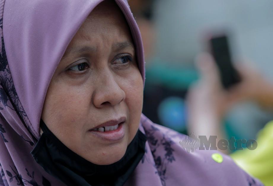 ZAHLAWATTI ketika bercakap kepada wartawan. FOTO Asyraf Hamzah.