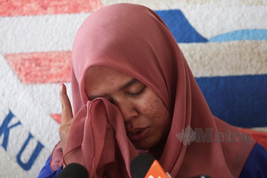 NUR Ismalinda ketika di Jabatan Forensik Hospital Hulu Terengganu.  FOTO Ghazali Kori
