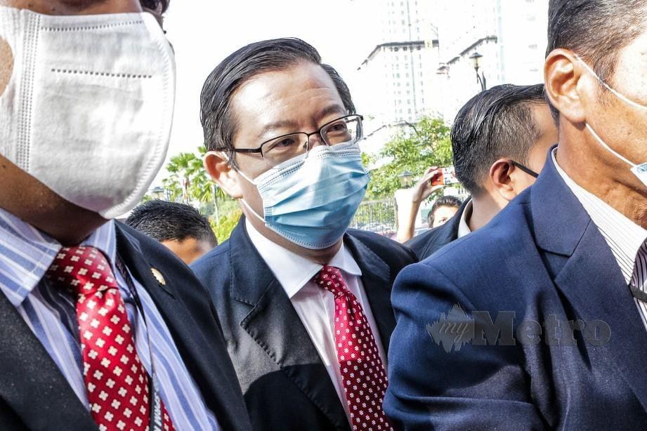 GUAN Eng tiba di Kompleks Mahkamah Kuala Lumpur. FOTO Asyraf Hamzah