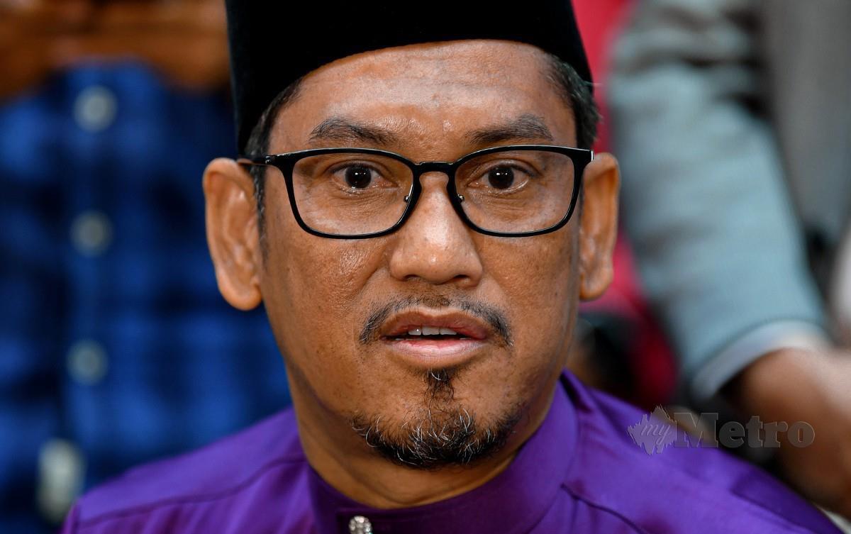 AHMAD Faizal ketika sidang media selepas Persidangan DUN Perak. FOTO Bernama