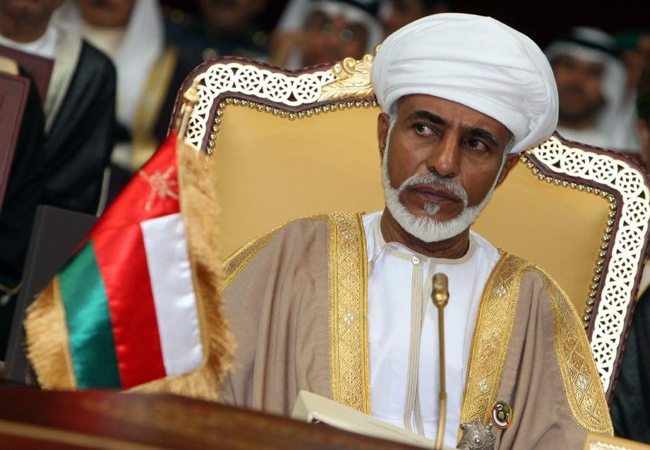 QABOOS Said meninggal dunia petang Jumaat lalu. FOTO REUTERS