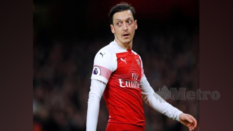 Ozil meraih pendapatan RM1.9j seminggu bersama Arsenal. FOTO REUTERS