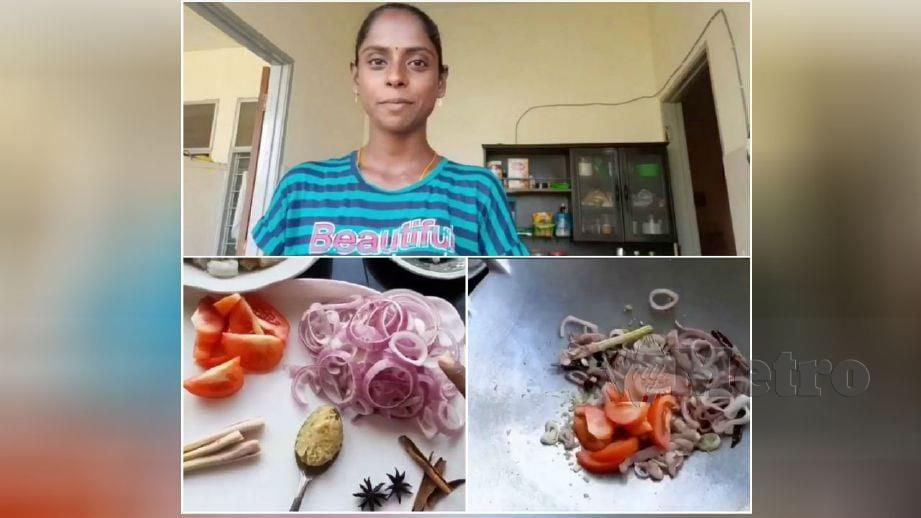 SALAH satu rakaman video masakan Pavithra menerusi saluran Youtube Sugu Pavithra.