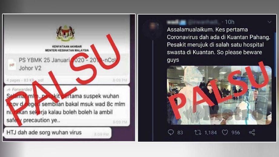 ANTARA berita palsu yang tersebar. FOTO tular media sosial