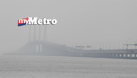 Pemandangan Jambatan Pulau Pinang  yang dirakam pada 10.30 pagi tadi. FOTO Ramdzan Masiam