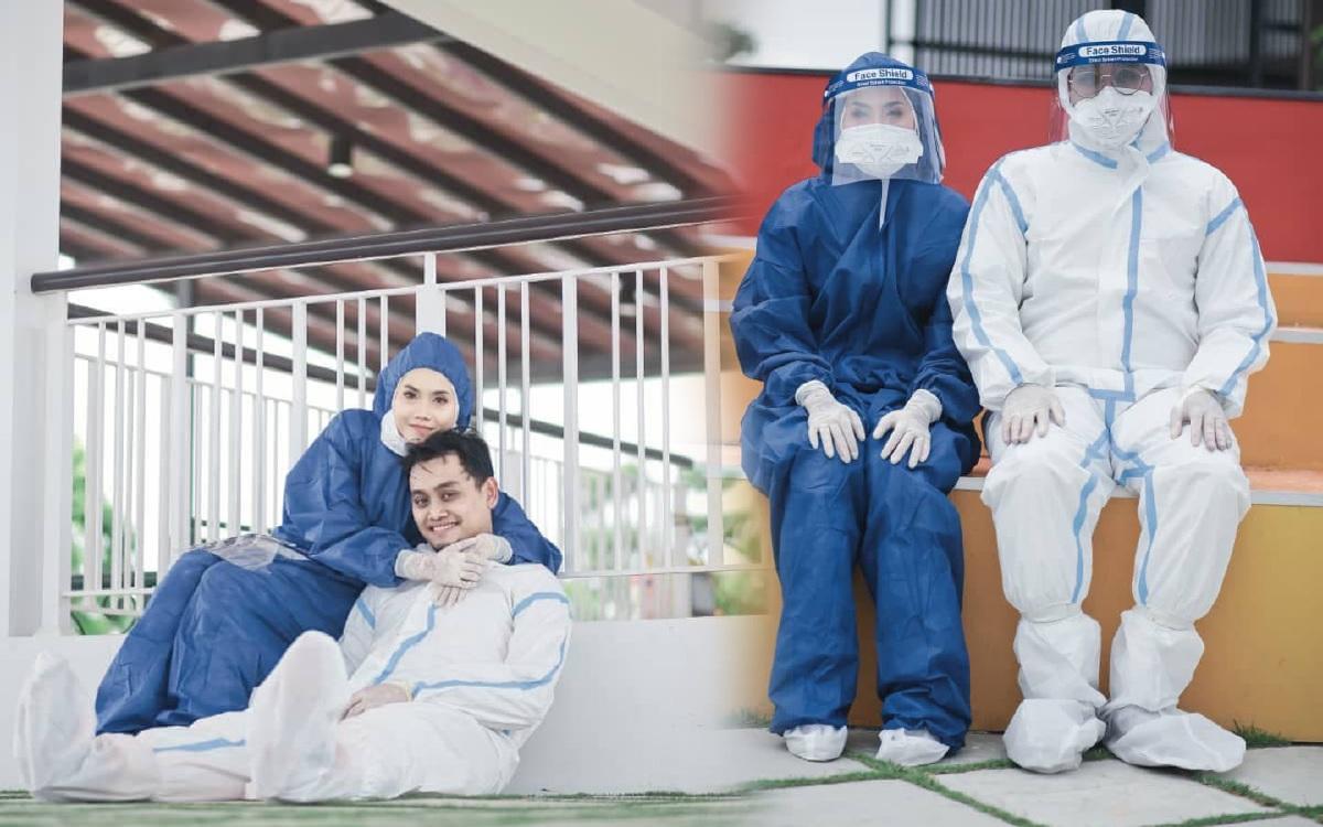 Pengantin abadikan foto kenangan dengan PPE   Harian Metro