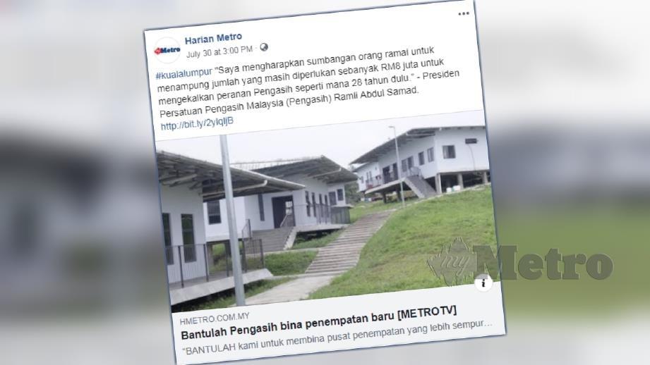 Laporan portal berita Harian Metro semalam.