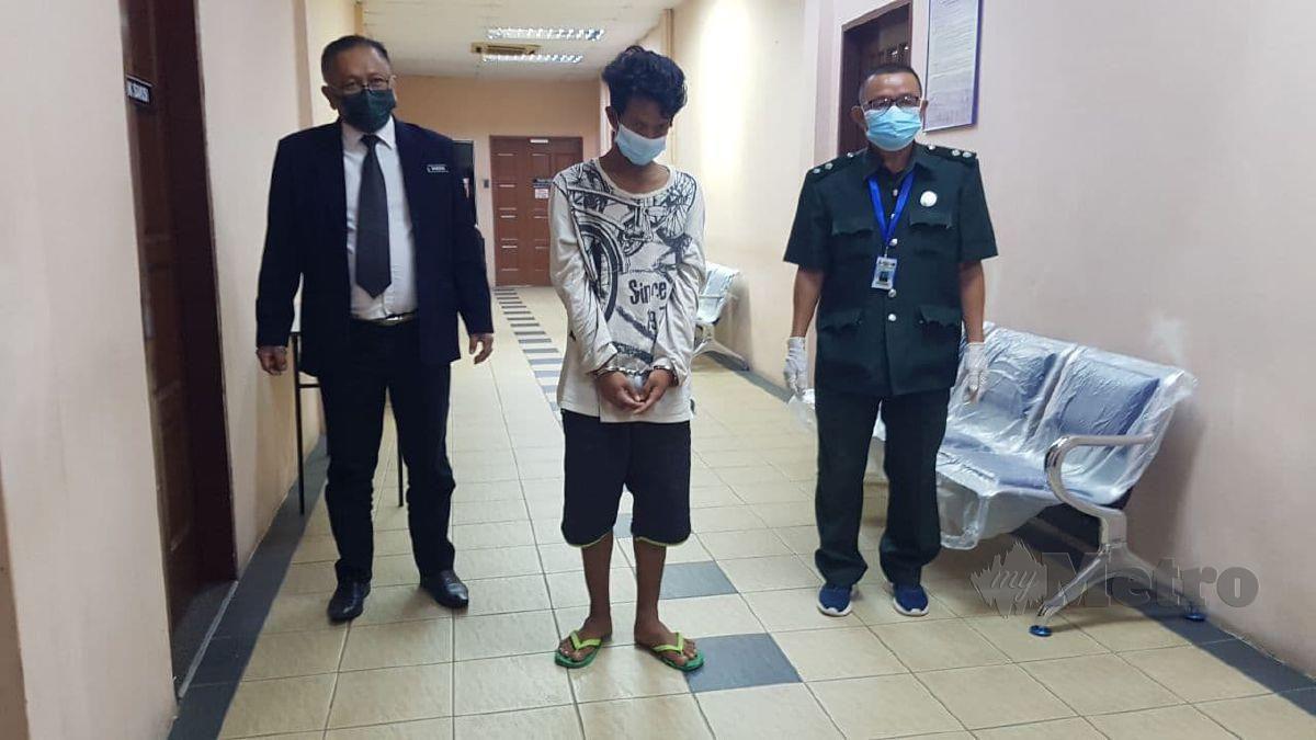 Nasdi dijatuhi hukuman 4 tahun penjara dan denda RM150,000.00 atas kesalahan memiliki hasil haiwan daripada spesis dilindungi (Penyu Hijau). FOTO Abdul Rahemang Taiming