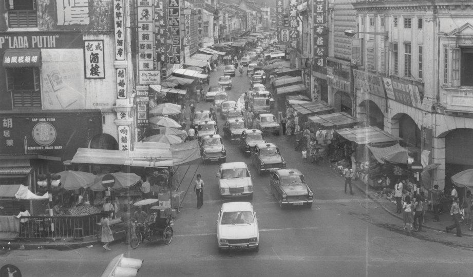 DULU. Bahagian hadapan Petaling Street pada 1976.