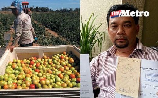 ANTARA rakyat Malaysia yang ditipu ejen bekerja sebagai pemetik buah. Gambar kanan, Mohd Faidzol Ismail menunjukkan laporan polis yang telah dibuat.