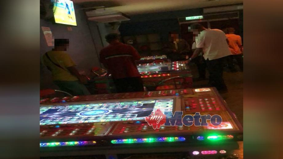 PREMIS pusat hiburan keluarga yang diserbu polis kerana beroperasi tanpa lesen dan menjalankan kegiatan perjudian di Sungai Petani, hari ini. FOTO Ihsan PDRM