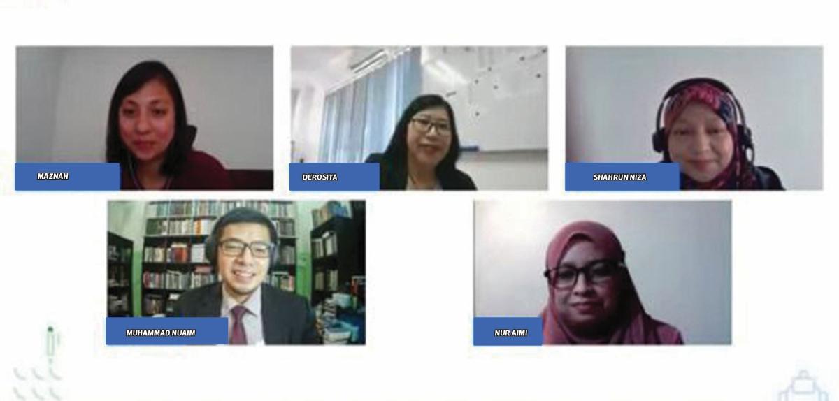 BARISAN panel yang berkongsi bagaimana Program Pendidikan Pensijilan Google membantu menambahbaik PdPR secara dalam talian.