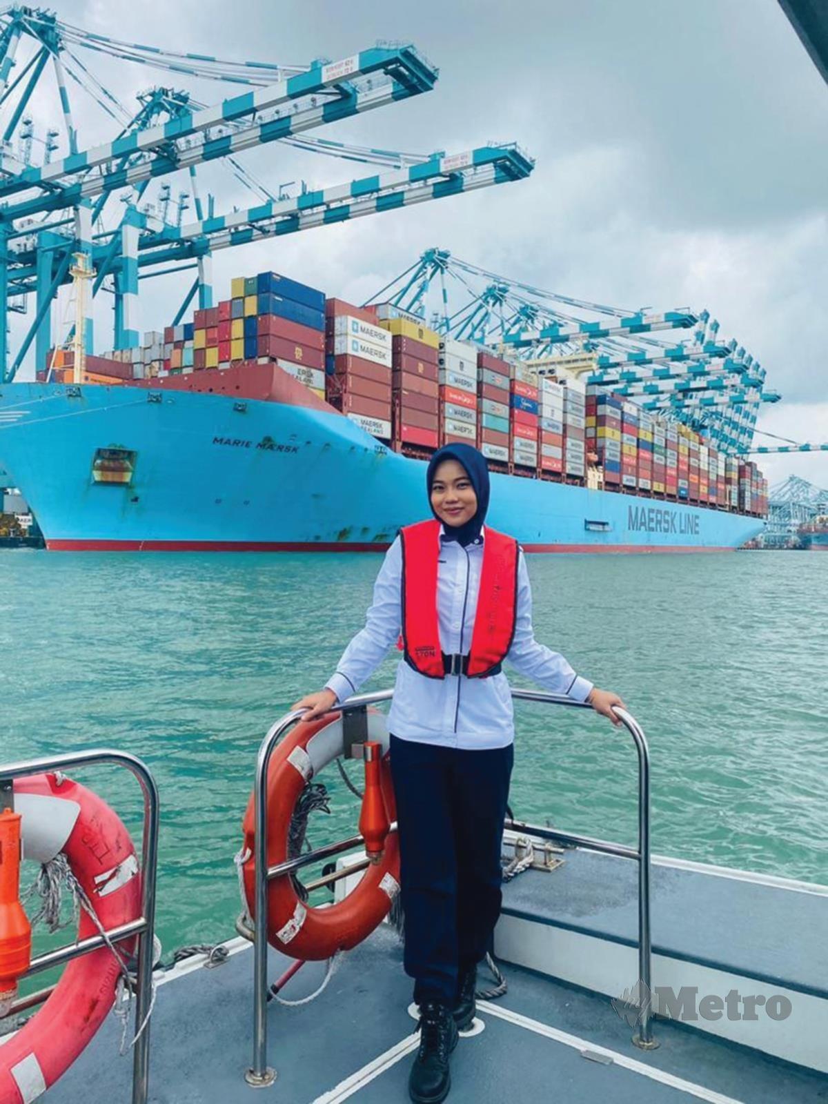 MALIM pelabuhan wanita pertama di Malaysia, Nurul Arrienne.