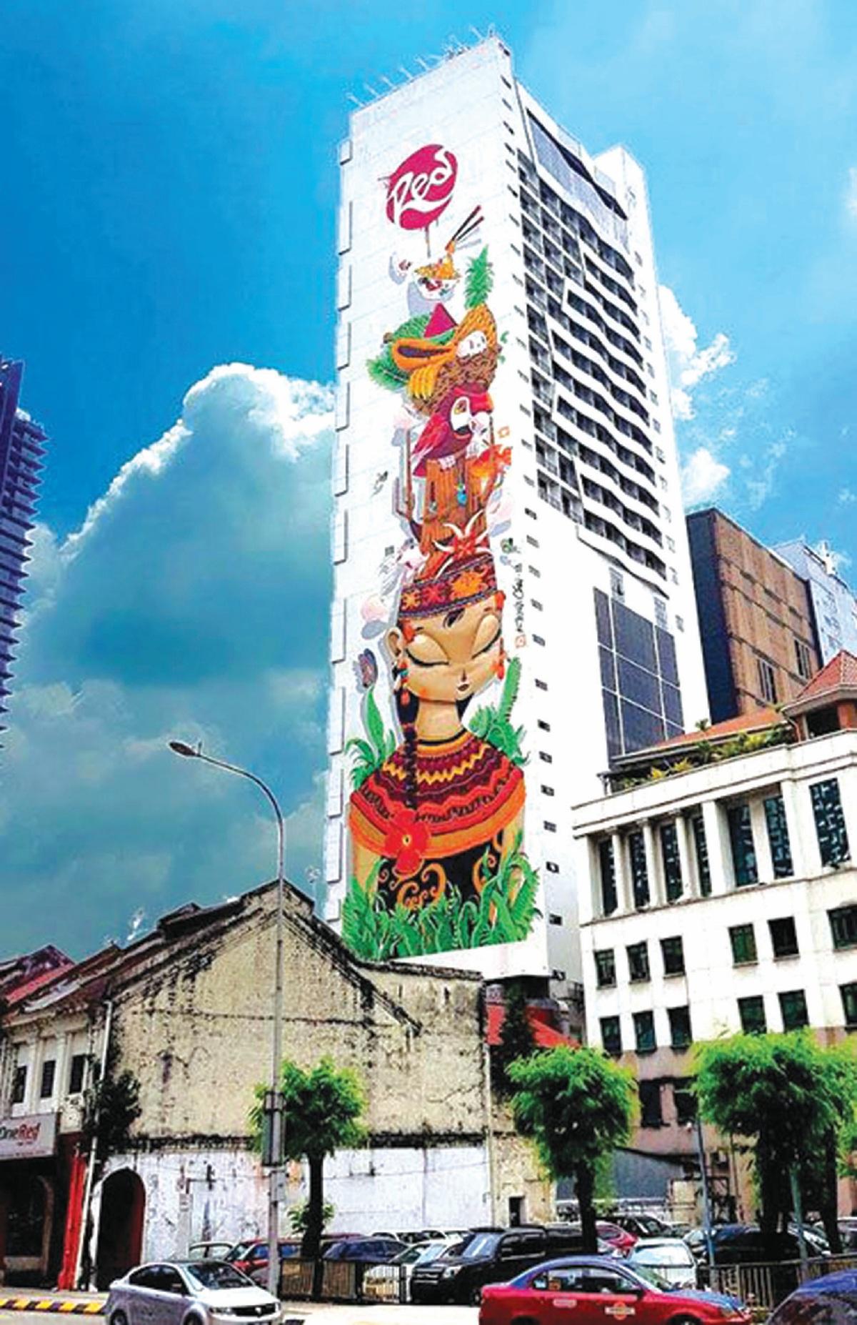 MURAL tertinggi di Malaysia di Jalan Kamunting, Dang Wangi.