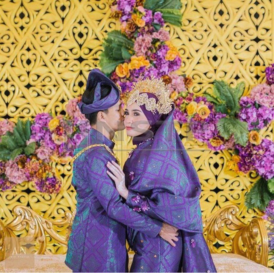 Izreen 'dirai' bak pengantin baru. - Foto Ihsan Amir Naufal Photography