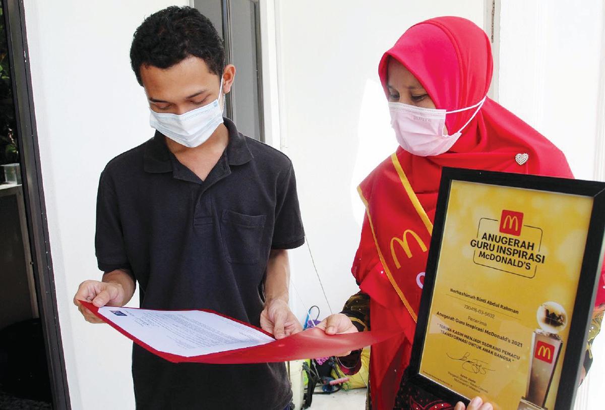 JASA Nor Hashimah mendorong Muhammad Afiq Aiman menghantar penyertaan kepada McDonald's.