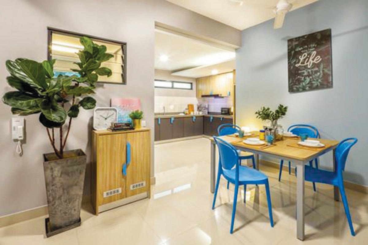 KEMUDAHAN perabot disediakan dalam projek Co-Living
