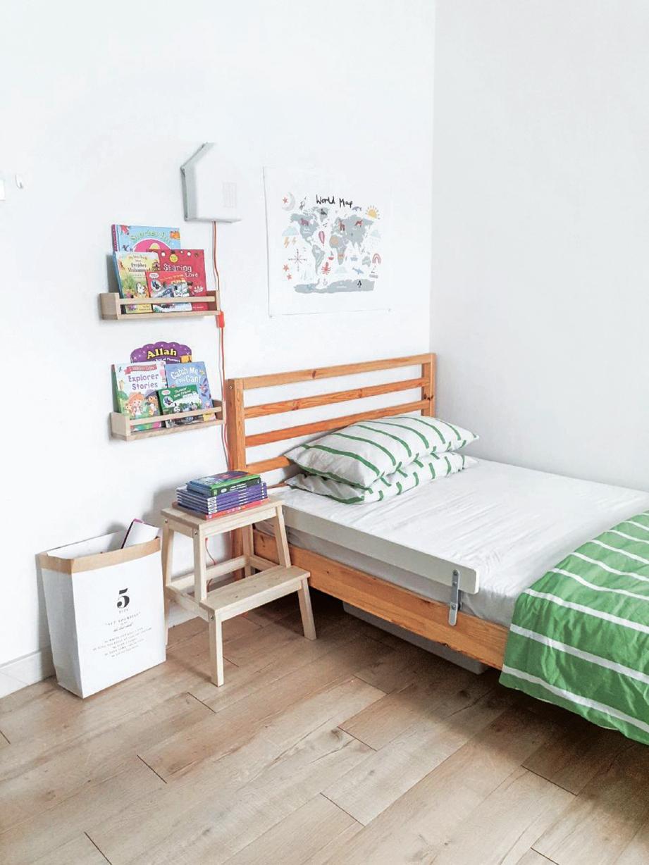 GAYA lebih moden pada bilik tidur.
