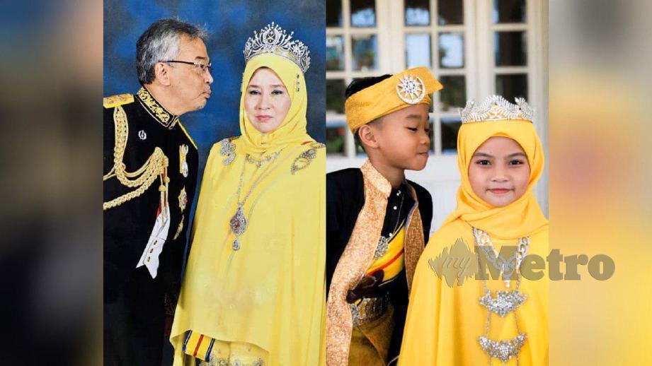 AKSI mencuit hati Syahibudil Ansyaufi serta Nur Varisha Aisy meniru gaya Yang di-Pertuan Agong dan Raja Permaisuri Agung. FOTO Ihsan Shadathul Naien