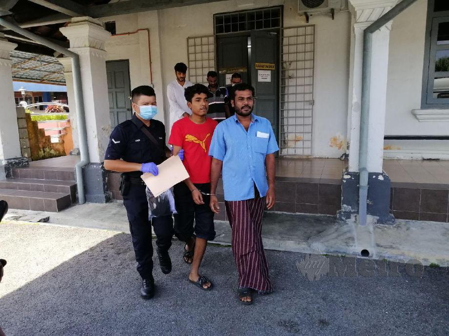 TERTUDUH yang melanggar PKP dituduh di Mahkamah Majistret Jelebu hari ini. FOTO Abnor Hamizam