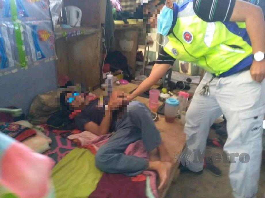 ANTARA penagih dadah yang ditahan. FOTO Ihsan AADK