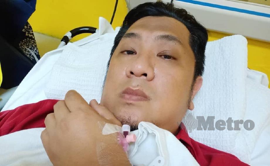 Azadan Abdul Aziz dimasukkan ke Hospital Selayang semalam akibat masalah darah tinggi dan jantung.
