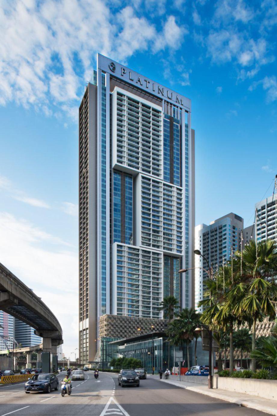 VISUAL keindahan The Face Platinum oleh GDP Architects.