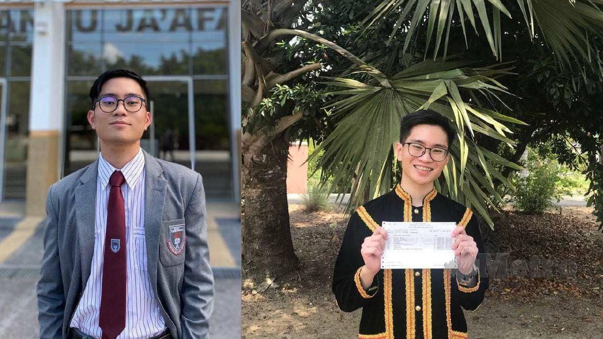 IVAN tidak sangka permohonannya masuk ke universiti terkemuka diterima. FOTO Ihsan Ivan Avannus Jacob Jimbangan