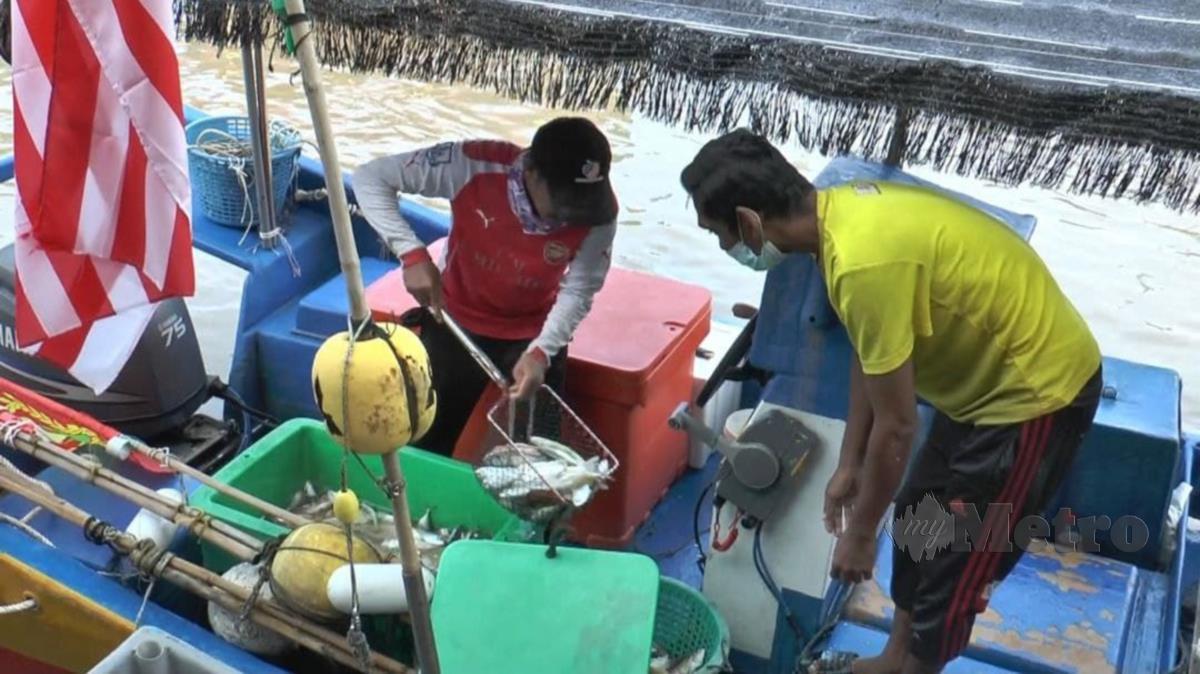 Nelayan di Kuala Kedah tidak dapat menangkap ikan berikutan PKPD Kuala Kedah menyebabkan hasil tangkapan terpaksa disimpan dan tidak dapat dipasarkan. FOTO ZULIATY ZULKIFFLI