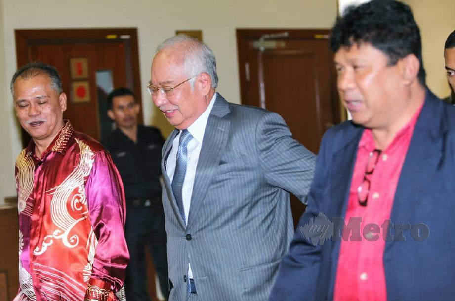 NAJIB ketika hadir di mahkamah, hari ini. FOTO Aswadi Alias