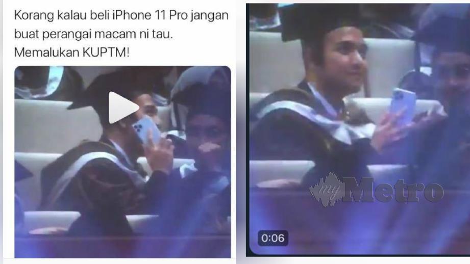 TANGKAP layar status rakan Amsyar Naaif yang kemudian dimuatnaik dalam Instagram sehingga tular.