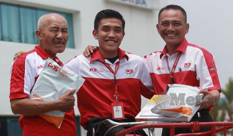 DARI kiri, Miswan, Mohd Amierul dan Ally Eimran. FOTO Sairien Nafis