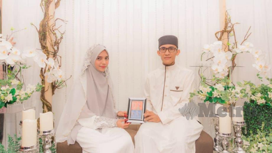 Nizammuddin menghadiahkan naskhah al-Quran tulisan tangannya sendiri di majlis pernikahan mereka pada 12 April lalu.