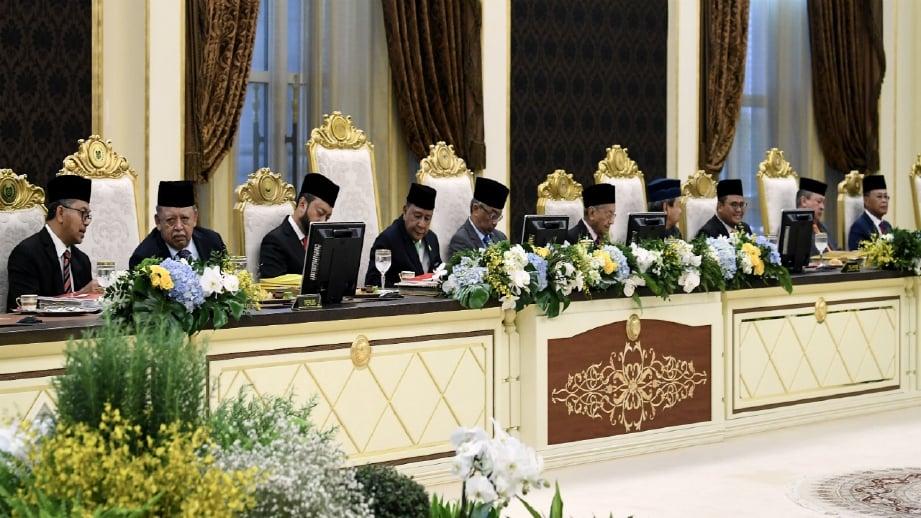 MESYUARAT Majlis Raja-Raja yang berlangsung hari ini. FOTO Bernama