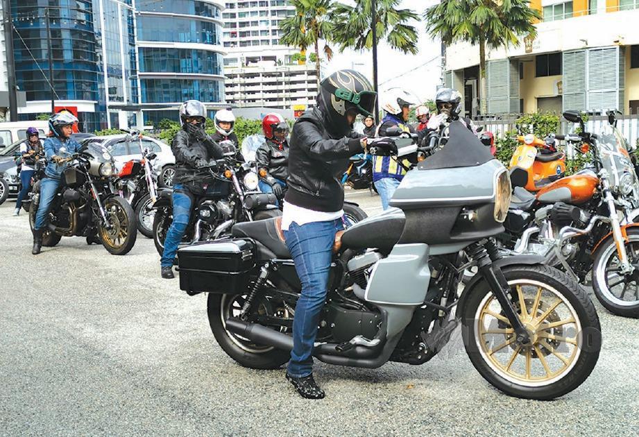 KETIKA acara Women Riders World Relay. FOTO Mohamad Shahril Badri Saali