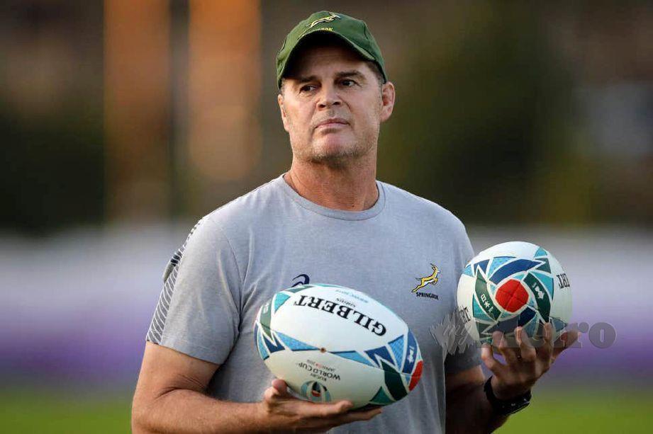 Pengarah ragbi Afrika Selatan, Rassie Erasmus. FOTO Agensi