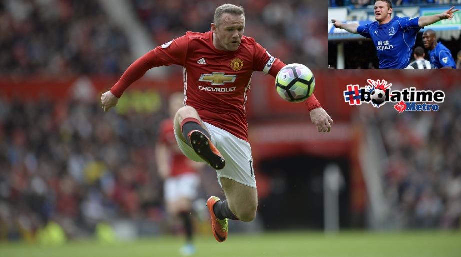 Rooney sertai kelab lamanya semula selepas tinggalkan Manchester United. FOTO AFP