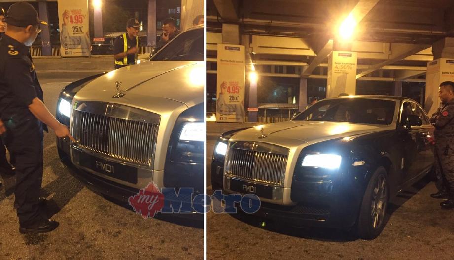 Kereta Rolls Royce yang didaftarkan atas nama Datuk Aiff Syukri disita kerana kesalahan LKM.