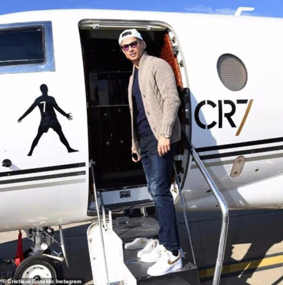 RONALDO dilaporkan sudah kembali ke Turin. FOTO Agensi
