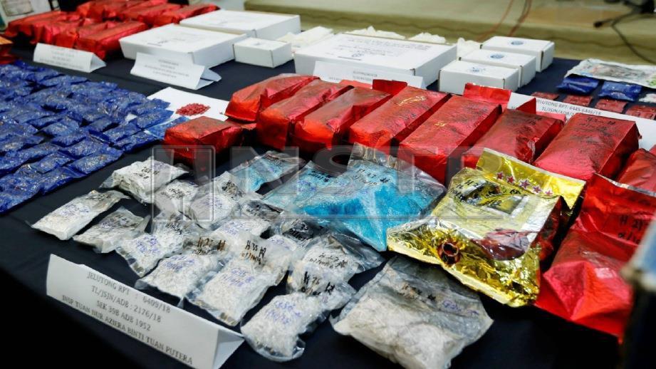 ANTARA dadah yang dirampas daripada suspek. FOTO Ramdzan Masiam