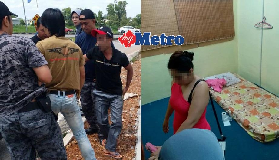 (KIRI) Lelaki warga Nepal ditangkap selepas cuba melarikan diri di Sungai Petani, manakala wanita warga Thailand (kanan) ditahan imigresen selepas didapati menyalahgunakan Pas Lawatan Sosial diberikan dengan bekerja sebagai tukang urut di Taman Jerai Maju, Gurun. FOTO/IHSAN JIM KEDAH
