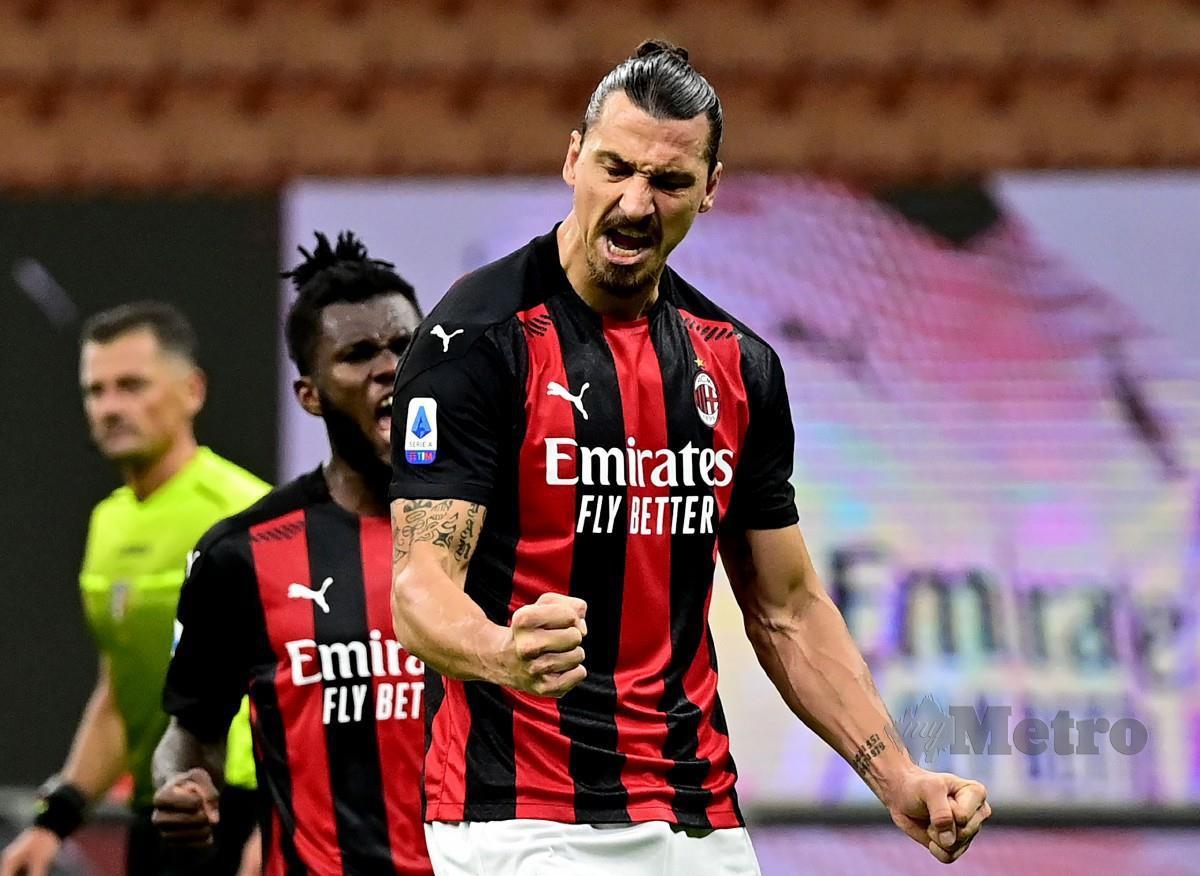 Penyerang AC Milan, Zlatan Ibrahimovic. FOTO AFP