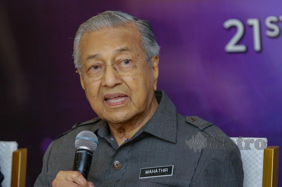 DR Mahathir Mohamad. FOTO arkib NSTP