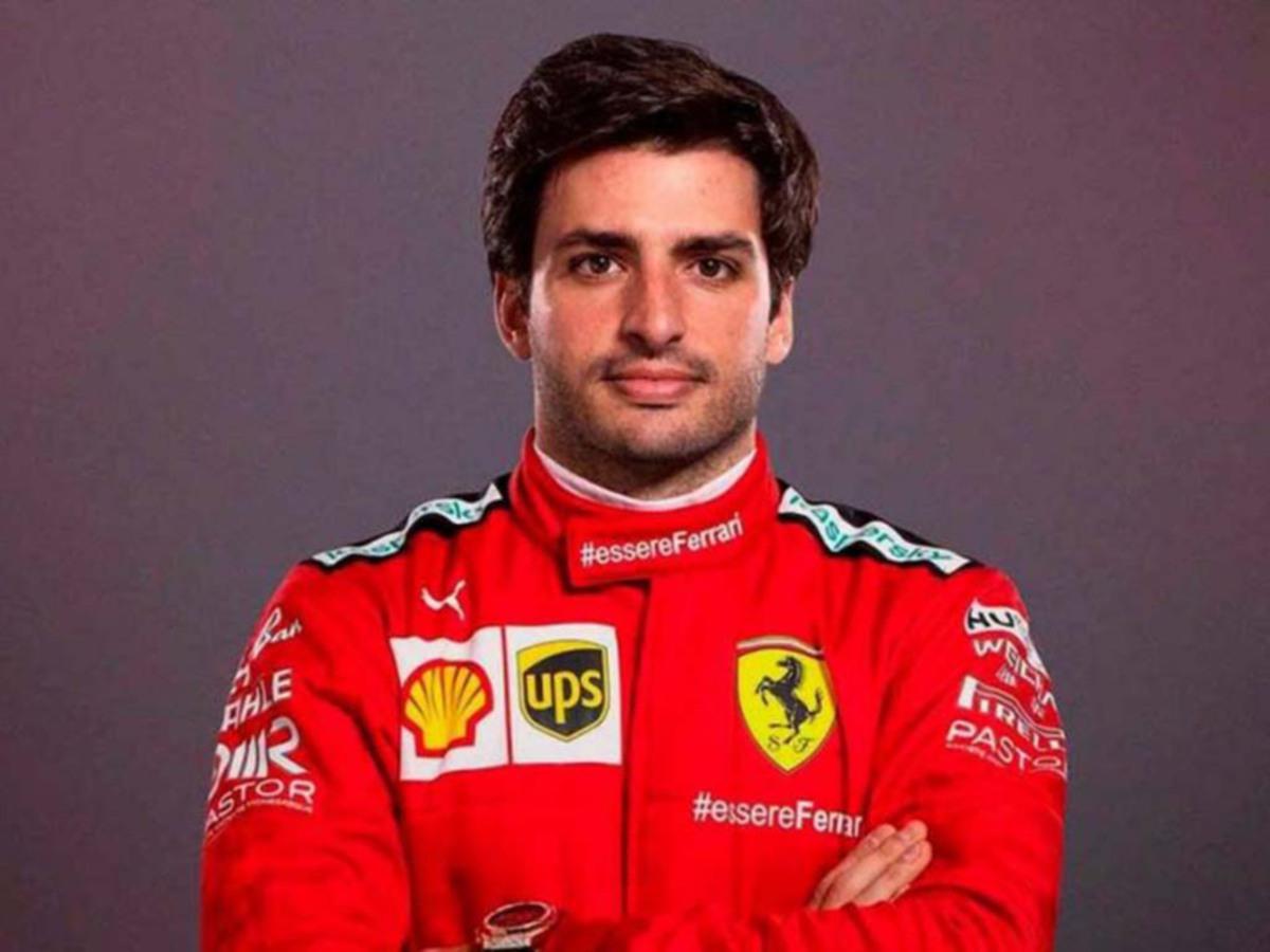 SAINZ beraksi bersama Ferrari musim depan. FOTO Agensi
