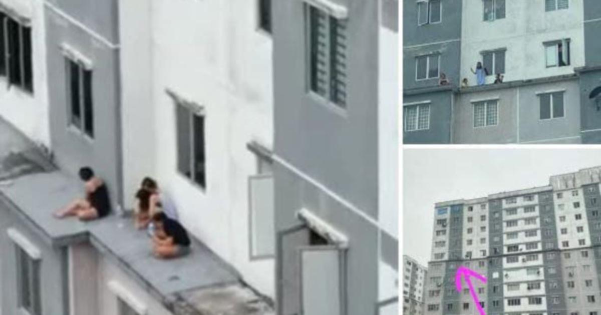 5 ditahan 'bersantai' di luar balkoni