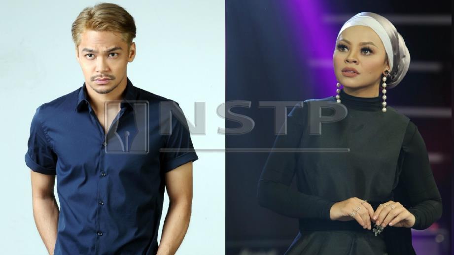 SYAFIQ Kyle (kiri) jadi pilihan model klip video Siti Sarah (kanan). FOTO Arkib NSTP