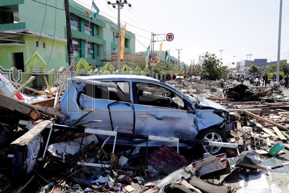 Tsunami di Sulawesi Tengah berlaku selepas gempa bumi magnitud 7.7 skala Richter