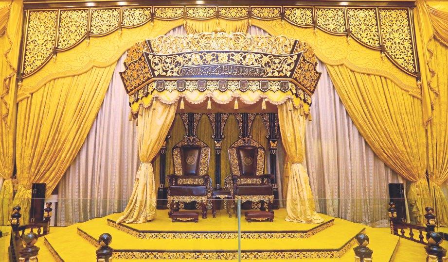 DEKORASI di Muzium Istana yang menarik perhatian.