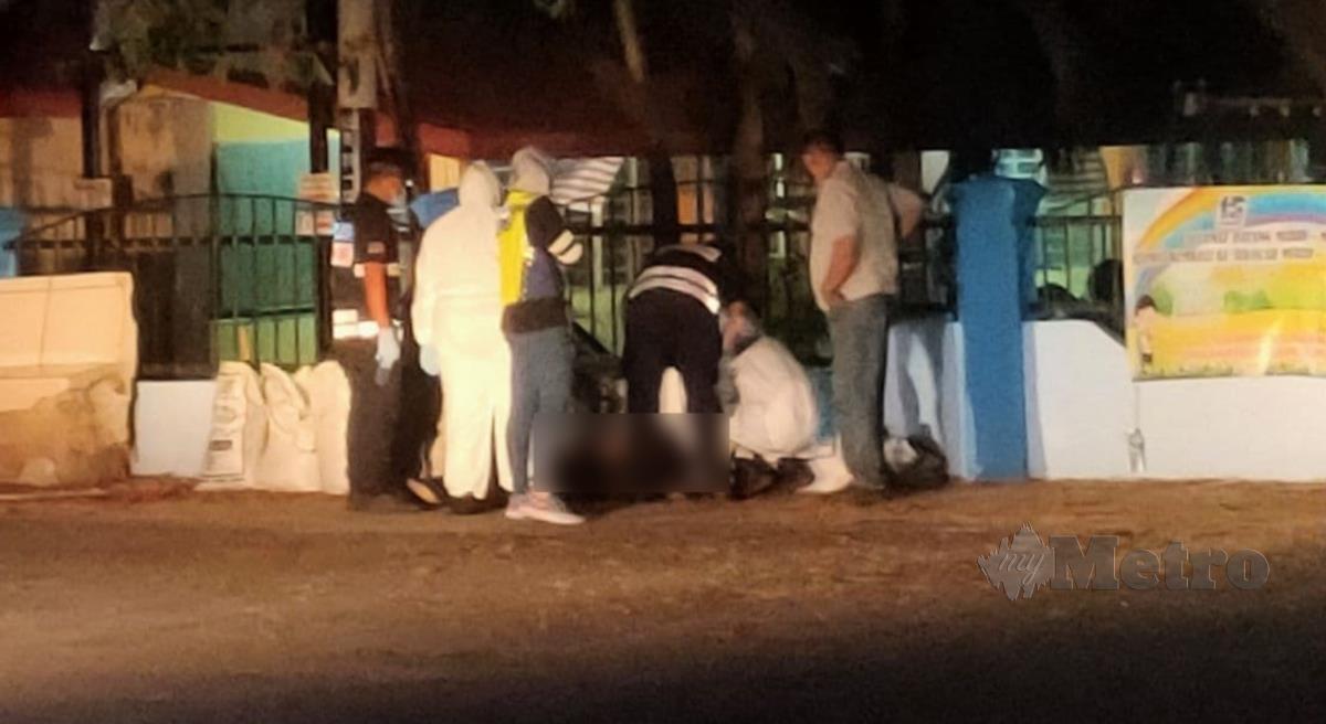 Pasukan polis melakukan siasatan di lokasi kejadian. FOTO Zuliaty Zulkiffli